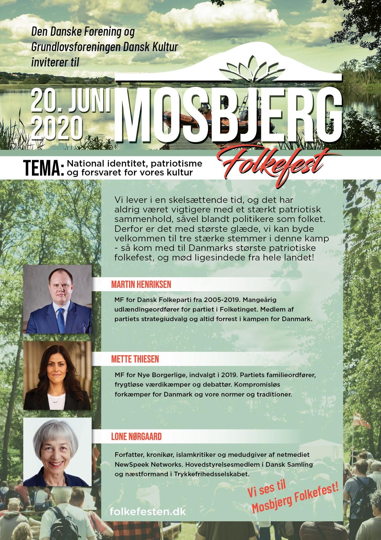 Mosbjerg Folkefest Flyer 2020